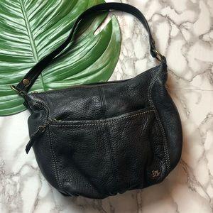 The Sak Black Pebbled Leather Hobo Bag